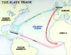 Map of trade routes