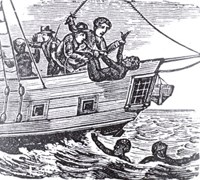 Woodcut showing the Zong slave ship incident