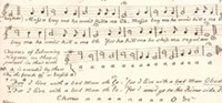 Manuscript of the song of slaves
