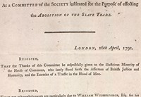Resolutions of the committee of the Society for the Abolition of the Slave Trade